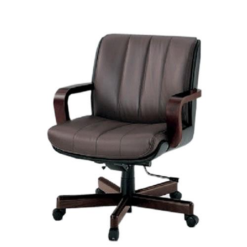 イトーキ R-1タイプ エグゼクティブチェア 社長椅子 役員椅子 ミドルバック 肘付 背裏ビニールレザー張り 皮革 KWR-109LA