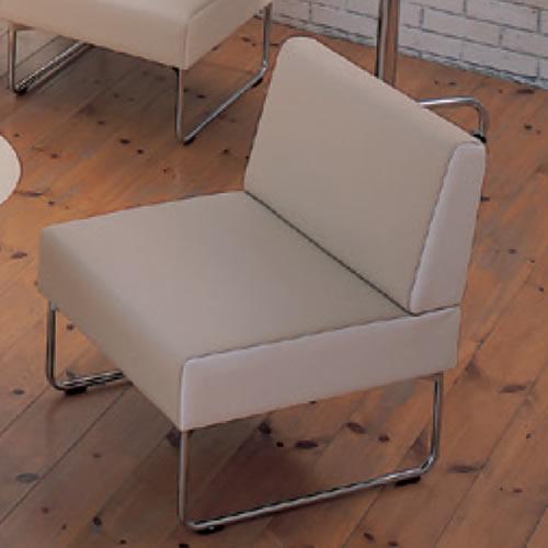 イトーキ 会議椅子 ミーティングチェアー ベジーナ 1人用ソファ シルバーメタリック塗装脚 LJS-31D-Z5