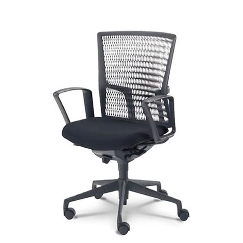 内田洋行 オフィスチェア 事務用チェア 事務椅子 アクトディア チェア ミドルバック 背ヌード リング肘 AA3-130