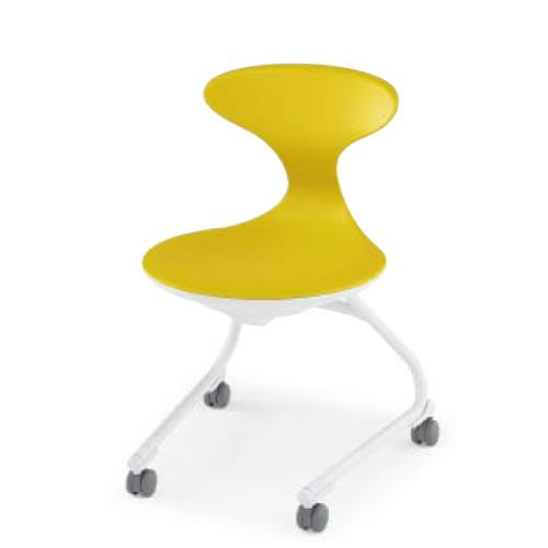 コクヨ 会議椅子 ミーティングチェアー キャンパスアップ 肘なし 前傾なし カンチレバー脚 キャスター脚 荷物トレーなし CAC-200E1