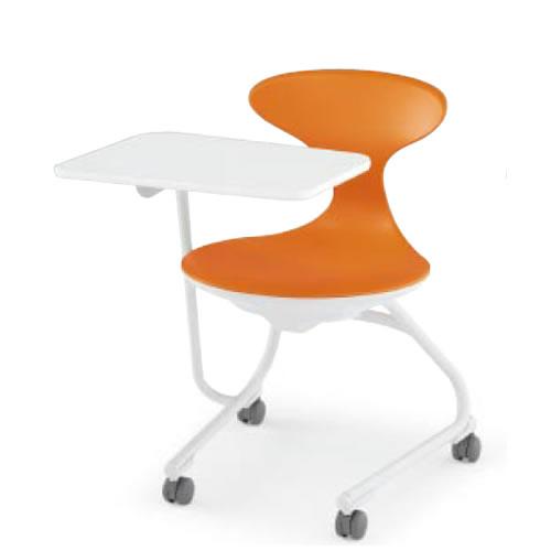 コクヨ 会議椅子 ミーティングチェアー メモ台付きチェア キャンパスアップ 肘なし 前傾なし カンチレバー脚 キャスター脚 荷物トレーなし CAC-2002E1T