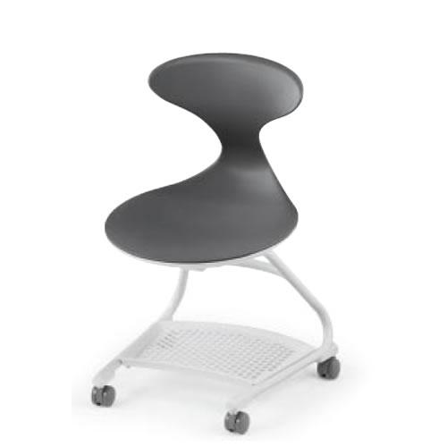 コクヨ 会議椅子 ミーティングチェアー キャンパスアップ 肘なし 前傾あり カンチレバー脚 キャスター脚 荷物トレー付き CAC-210E1S