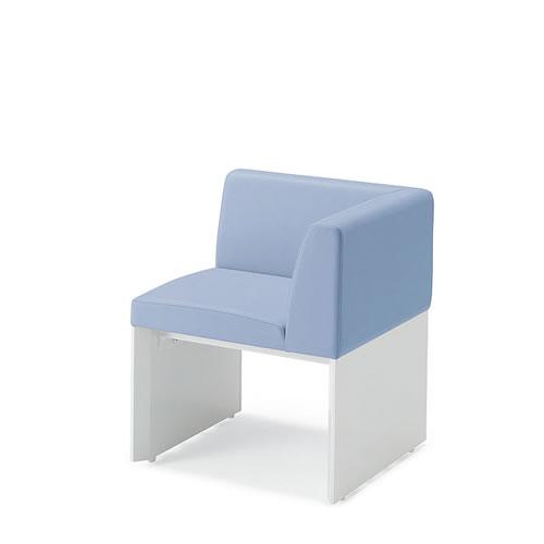 コクヨ ロビーチェア 待合 病院 長椅子 1人掛 左コーナーチェアー SSシリーズ CN-1501U90L