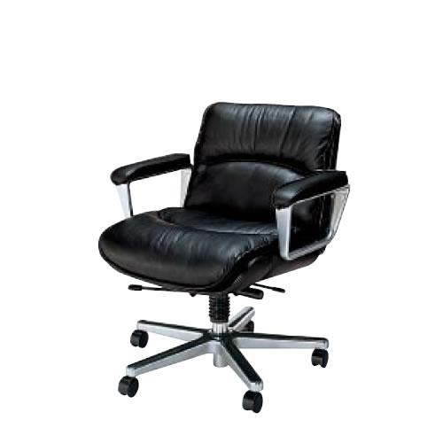 コクヨ マネージメントチェアー 130シリーズ 社長椅子 役員椅子 ローバック 本革+ビニールレザー CR-G130LC