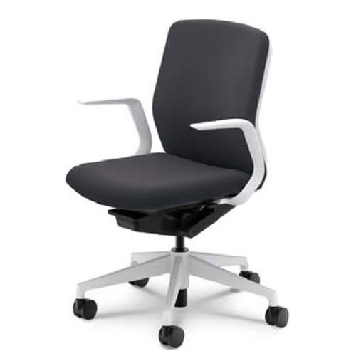 内田洋行 オフィスチェア 事務用イス 事務椅子 クレネ チェア ミドルバック L型肘 布張地 KRA-110(115)C