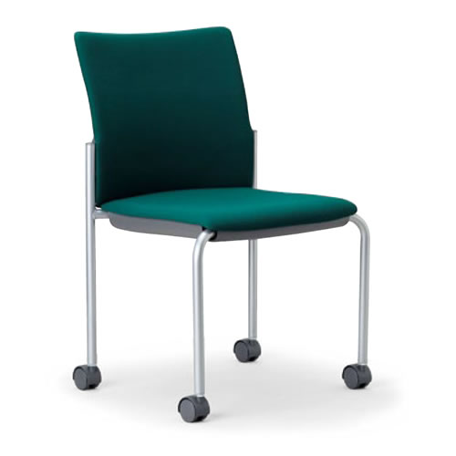 【個人宅配送不可】 アイコ ミーティングチェア 椅子 会議チェア 肘なし キャスター脚 紛体塗装 角背タイプ MC-882