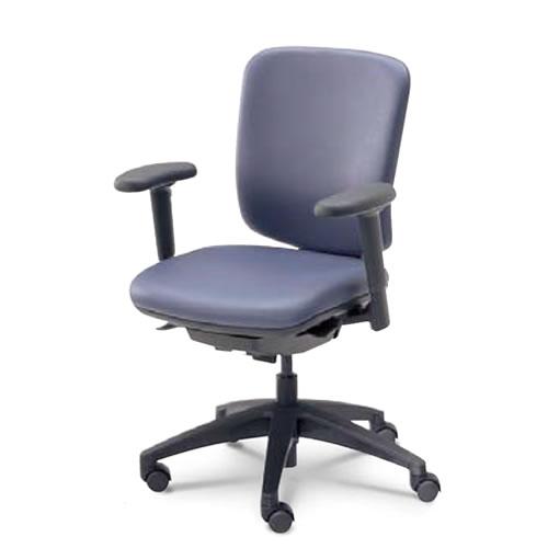 内田洋行 オフィスチェア 事務用チェア 事務椅子 エムアイ チェア ミドルバック アジャスタブル肘 MiF-120(125)