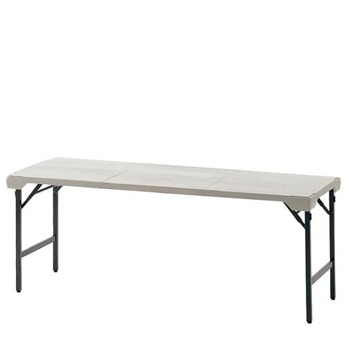 折りたたみテーブル 長机 幅1800×奥行620×高さ700mm ポリプロピレンブロー成型天板 TKS-1862
