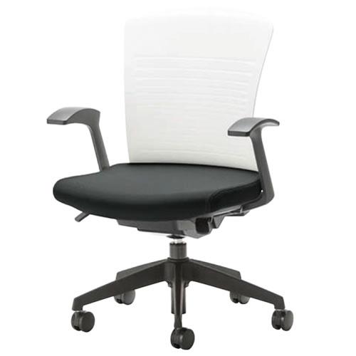 オフィスチェアー オフィスチェア 椅子 WITチェア 固定肘 樹脂脚 背パット無 WTS-40+WTS-AS