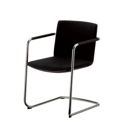 コクヨ 会議椅子 ミーティングチェアー ウィルクハーン Wilkhahn ネオス 肘付き キャンチレバー脚 背クッション付き 背黒色樹脂 183/31 XWH-18331BK