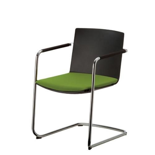 コクヨ 会議椅子 ミーティングチェアー ウィルクハーン Wilkhahn ネオス 肘付き キャンチレバー脚 背クッションなし 背黒色樹脂 183/3 XWH-1833BK