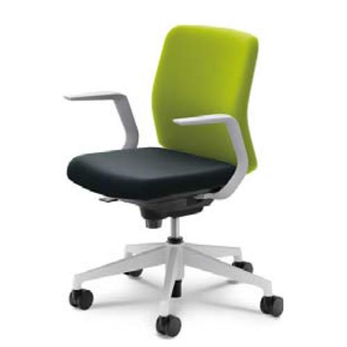内田洋行 オフィスチェア 事務用イス 事務椅子 カリッサ チェア クロスタイプ ローバック L型肘 CRF-110C(115C)