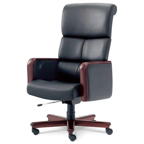 内田洋行 オフィスチェア 事務用 社長椅子 高級チェア ハイバック 本革張り プレジデントチェア ED-800