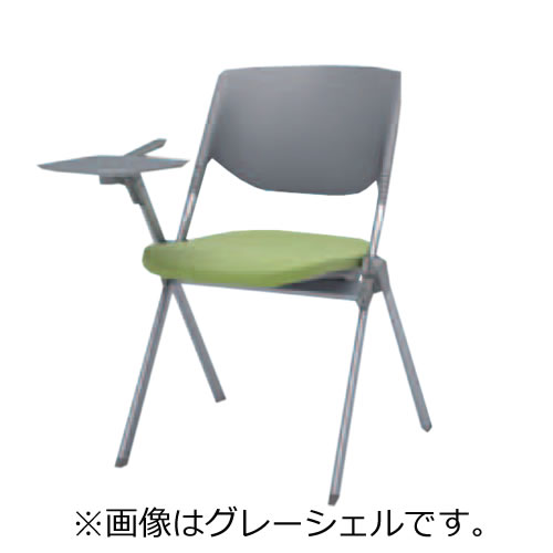 オカムラ ミーティングチェア 椅子 会議チェア リータII タブレット 4本脚 ブラックシェル H141TZ