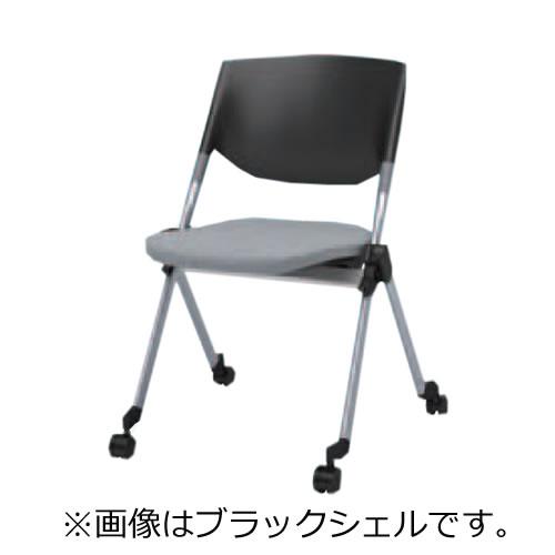 オカムラ ミーティングチェア 椅子 会議チェア リータII 肘なし 4本脚キャスター ホワイトシェル H141ZA
