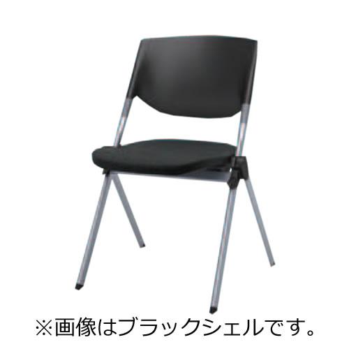オカムラ ミーティングチェア 椅子 会議チェア リータII 肘なし 4本脚 ホワイトシェル H141ZB