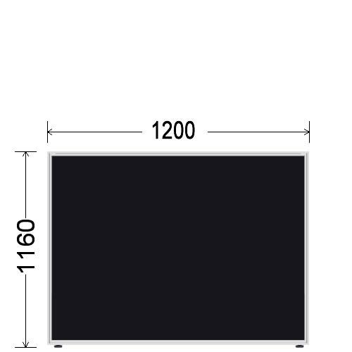 ローパーティション 衝立 BelfixベルフィクスLPEパネル 幅1200 生興 LPE-1112