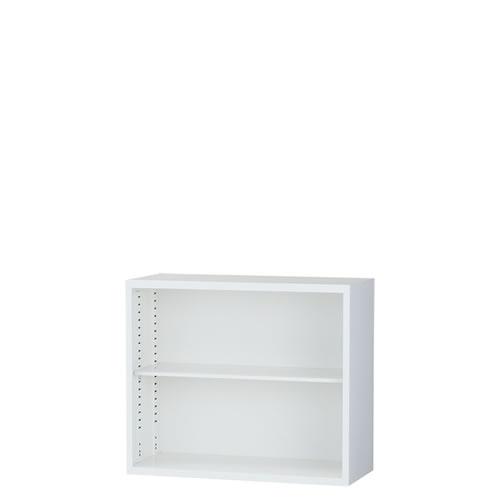上置オープン書庫 A4対応 スチール ホワイト 日本製ALZ-K32