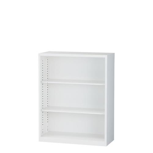 下置オープン書庫 A4対応 スチール ホワイト 日本製ALZ-K34