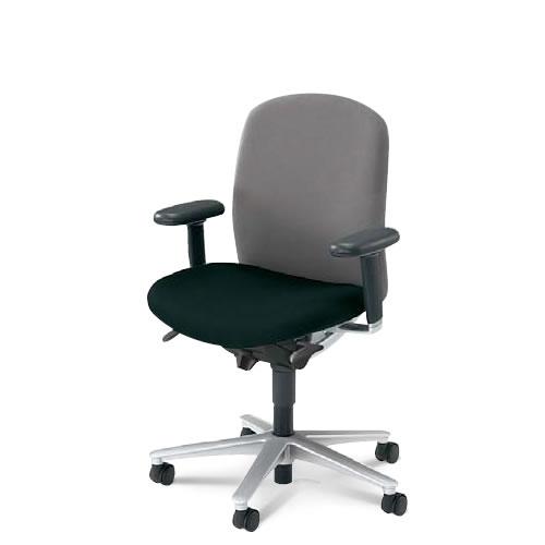 内田洋行 オフィスチェア 事務用イス 事務椅子 キャスト チェア ミドルバック 可動肘 CA2-120B(125B)