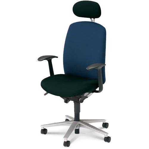 内田洋行 オフィスチェア 事務用イス 事務椅子 キャスト チェア ハイバック ヘッドレスト 付 T型肘 CA2-510B(515B)