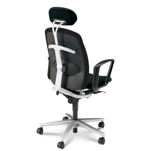 内田洋行 オフィスチェア 事務用イス 事務椅子 キャスト チェア ハイバック ヘッドレスト 付 リング肘 CA2-530B(535B)