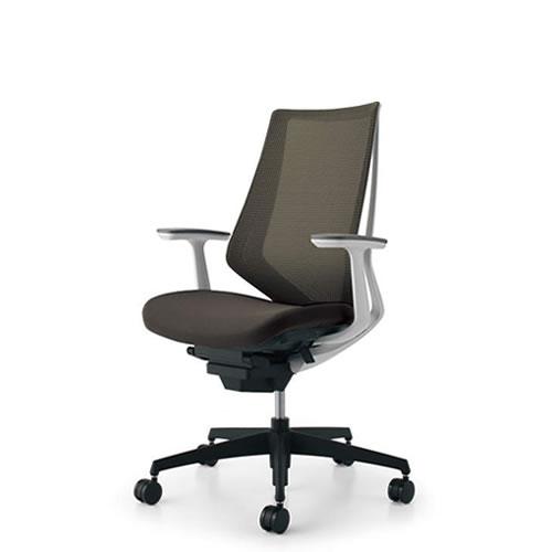 コクヨ デュオラ チェア オフィス ハイバック ランバーサポートなし T型肘 ブラック樹脂脚 背座同色 CR-G3001