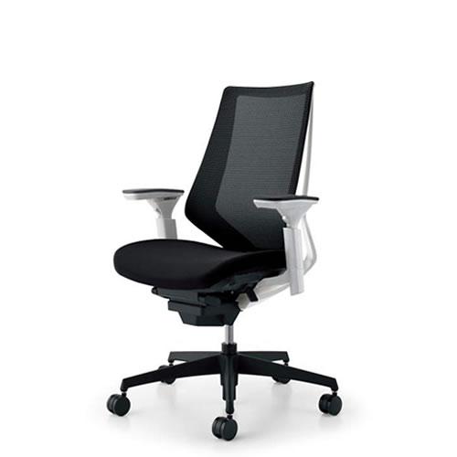 コクヨ デュオラ チェア オフィス ハイバック ランバーサポートなし 可動肘 ブラック樹脂脚 背座同色 CR-G3011