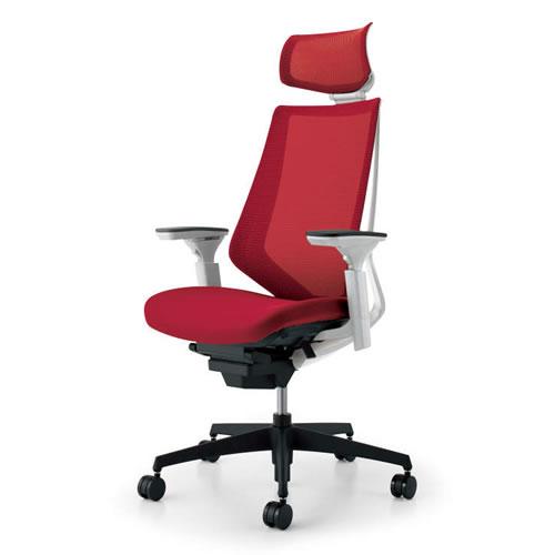 コクヨ デュオラ チェア オフィス ヘッドレスト付 ランバーサポートなし 可動肘 ブラック樹脂脚 背座同色 CR-G3015