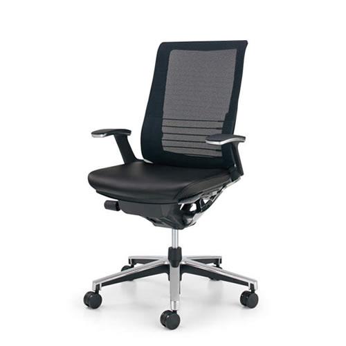 コクヨ インスパイン オフィスチェア デスクチェア ワークチェア パソコンチェア PCチェア 役員 椅子 T型肘 ハイバック 前傾姿勢 革張り CR-GA2503E6L7E6