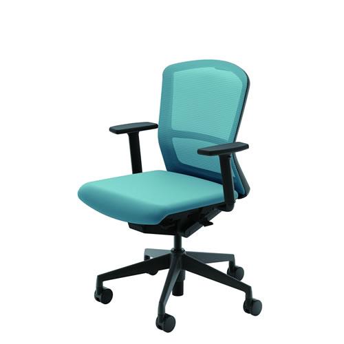 内田洋行 オフィスチェア 事務用チェア 事務椅子 エルフィ チェア ミドルバック メッシュタイプ アジャスタブル肘 ELA2-320M-325M