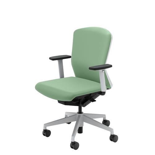 内田洋行 オフィスチェア 事務用チェア 事務椅子 エルフィ チェア ミドルバック クロスタイプ 背樹脂カバー アジャスタブル肘 ELA2-320P-325P
