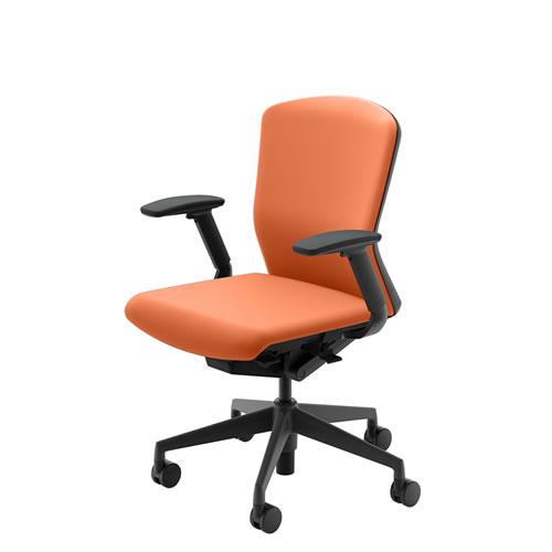 内田洋行 オフィスチェア 事務用チェア 事務椅子 エルフィ チェア ミドルバック クロスタイプ 両面クロス フルアジャスタブル肘 ELA2-340C-345C