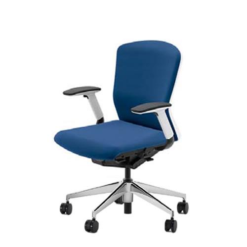 内田洋行 オフィスチェア 事務用チェア 事務椅子 エルフィ チェア ミドルバック クロスタイプ 背樹脂カバー フルアジャスタブル肘 ポリッシュ脚 ELA2-340P-345P-