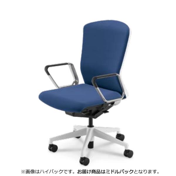 内田洋行 オフィスチェア 事務用チェア 事務椅子 エルフィ チェア ミドルバック クロスバック アルミリング肘 ELA2-360C-365C