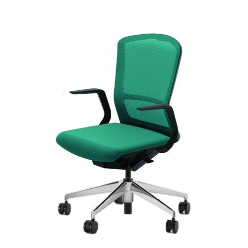 内田洋行 オフィスチェア 事務用チェア 事務椅子 エルフィ チェア ハイバック メッシュタイプ L型肘 ポリッシュ脚 ELA2-510M-515M-