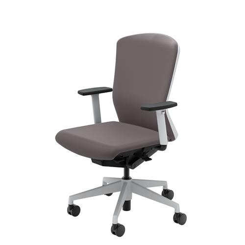 内田洋行 オフィスチェア 事務用チェア 事務椅子 エルフィ チェア ハイバック クロスタイプ 背樹脂カバー アジャスタブル肘 ELA2-520P-525P