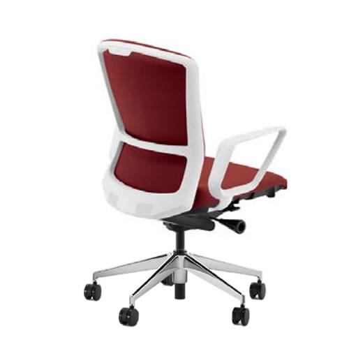 内田洋行 オフィスチェア 事務用チェア 事務椅子 エルフィ チェア ハイバック クロスタイプ 両面クロス リング肘 ポリッシュ脚 ELA2-530C-535C-