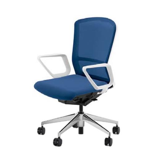 内田洋行 オフィスチェア 事務用チェア 事務椅子 エルフィ チェア ハイバック メッシュタイプ リング肘 ポリッシュ脚 ELA2-530M-535M-