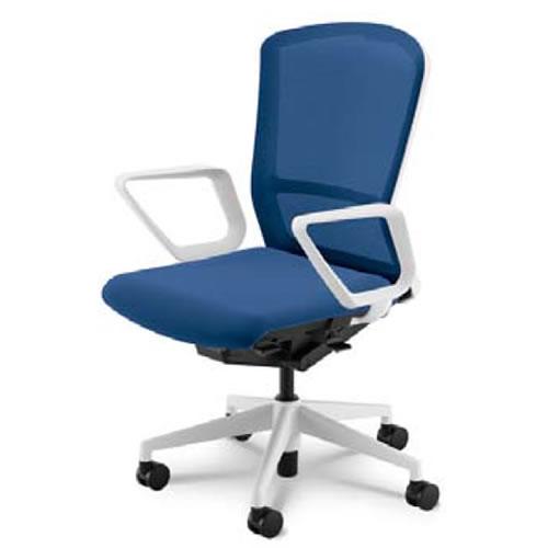 内田洋行 オフィスチェア 事務用チェア 事務椅子 エルフィ チェア ハイバック メッシュタイプ リング肘 ELA2-530M-535M