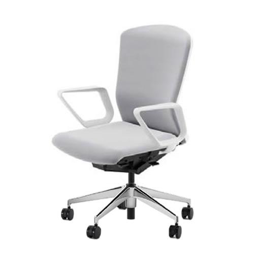 内田洋行 オフィスチェア 事務用チェア 事務椅子 エルフィ チェア ハイバック クロスタイプ 背樹脂カバー リング肘 ポリッシュ脚 ELA2-530P-535P-
