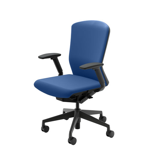 内田洋行 オフィスチェア 事務用チェア 事務椅子 エルフィ チェア ハイバック クロスタイプ 両面クロス フルアジャスタブル肘 ELA2-540C-545C