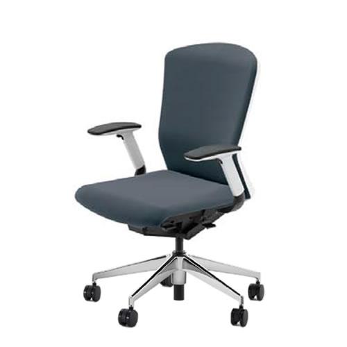 内田洋行 オフィスチェア 事務用チェア 事務椅子 エルフィ チェア ハイバック クロスタイプ 背樹脂カバー フルアジャスタブル肘 ポリッシュ脚 ELA2-540P-545P-
