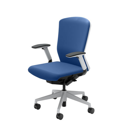 内田洋行 オフィスチェア 事務用チェア 事務椅子 エルフィ チェア ハイバック クロスタイプ 背樹脂カバー フルアジャスタブル肘 ELA2-540P-545P