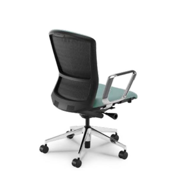内田洋行 オフィスチェア 事務用チェア 事務椅子 エルフィ チェア ハイバック 背樹脂カバーバック アルミリング肘 ポリッシュ脚 ELA2-560P-565P-
