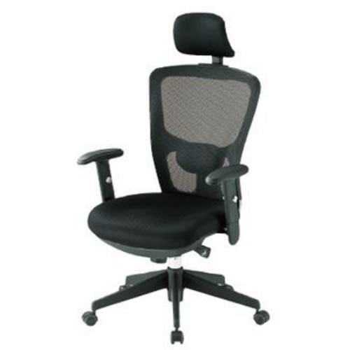 TOKIO オフィスチェア 椅子 メッシュ 肘付 ヘッドレスト付 FCM-5A+FCM-M