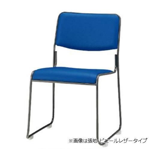【個人宅配送不可】TOKIO スタッキングチェア ミーティングチェア 塗装脚 肘なし 布張り 4脚セット FSC-15T-SET