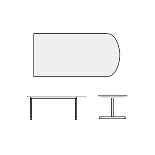 内田洋行 ミーティングテーブル ノティオシリーズnotioフィンガー天板 T字脚 幅1500ミリ NTO1575FINGER