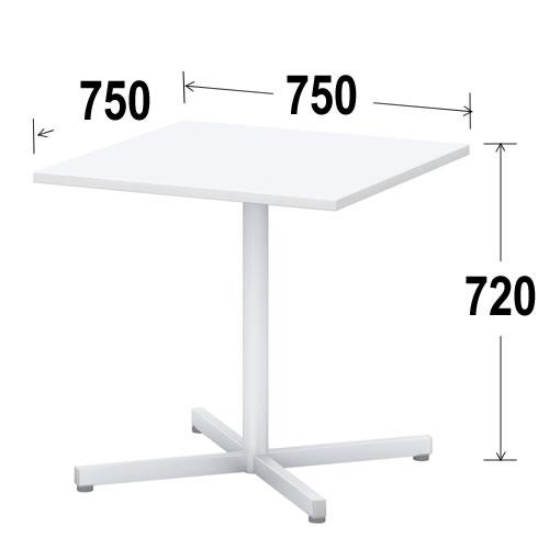 内田洋行 ミーティングテーブル ノティオシリーズnotio正方形天板テーブル 十字脚アジャスタータイプ 幅750ミリ NTO7575JUJIAJ