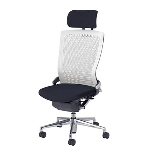 内田洋行 オフィスチェア 事務用チェア 事務椅子 パルス チェア ヘッドレスト付メッシュバック 肘なし PA2-500M